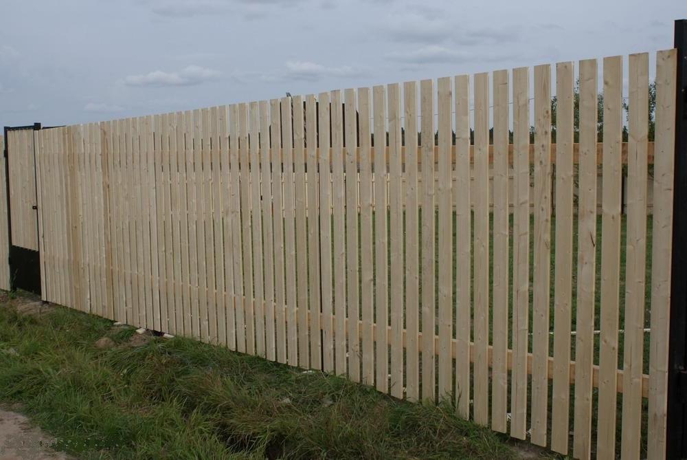 эконом деревянный забор
