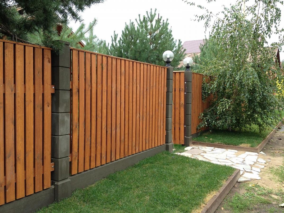 премиум деревянный забор