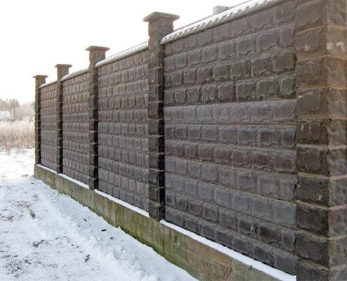 забор из облицовочного камня