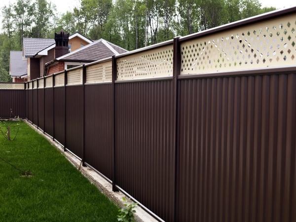 забор модульный с узором