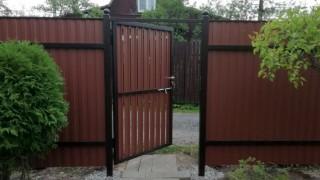 забор вертикальная доска