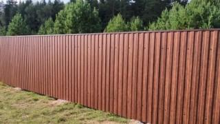 деревянный забор элитный
