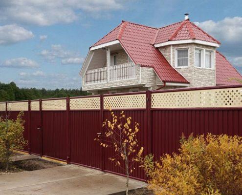 модульный забор для загородного участка