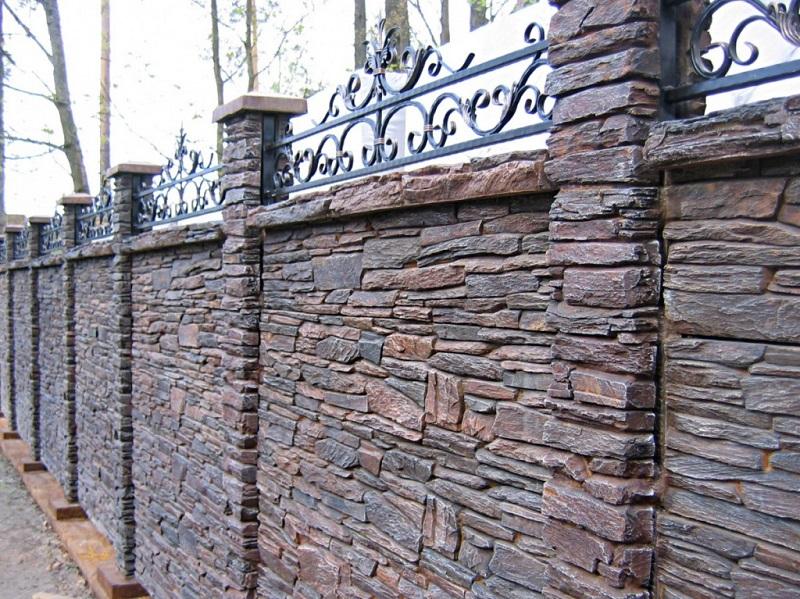 каменный забор под ключ