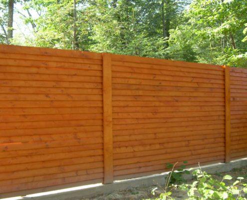 деревянный забор американка