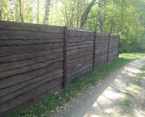 забор из дерева горизонтальный