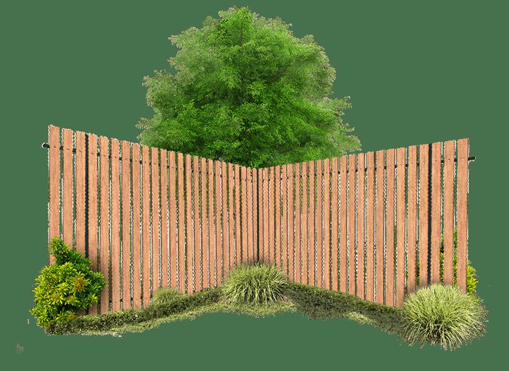 визуализация деревянного забора