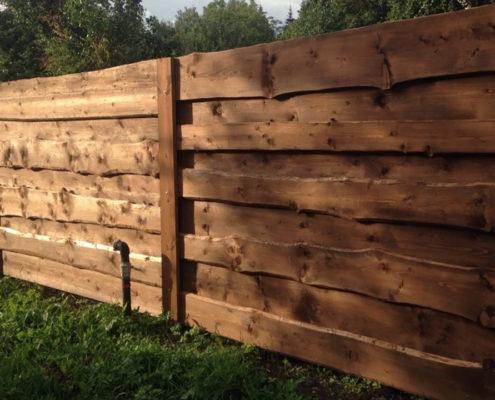 идеи дизайна деревянный забор