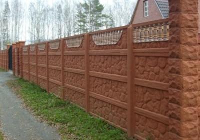 бетонный забор под ключ