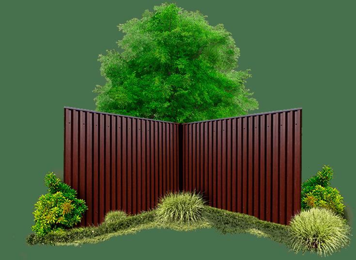 визуализация Забор из профнастила