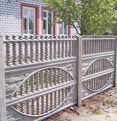 бетонный забор с узором