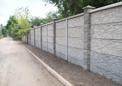 бетонный забор на дачу