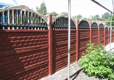 бетонный забор на загородный участок