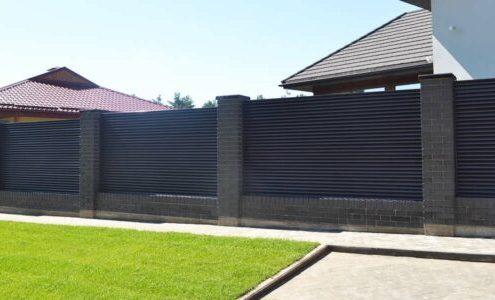 забор жалюзи для коттеджа