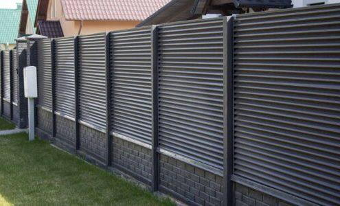 забор жалюзи для дачи