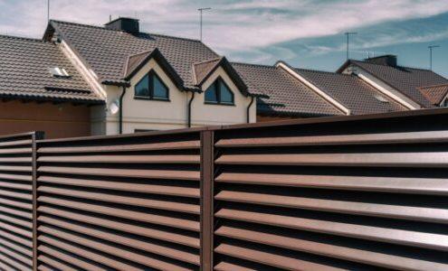 забор жалюзи высота