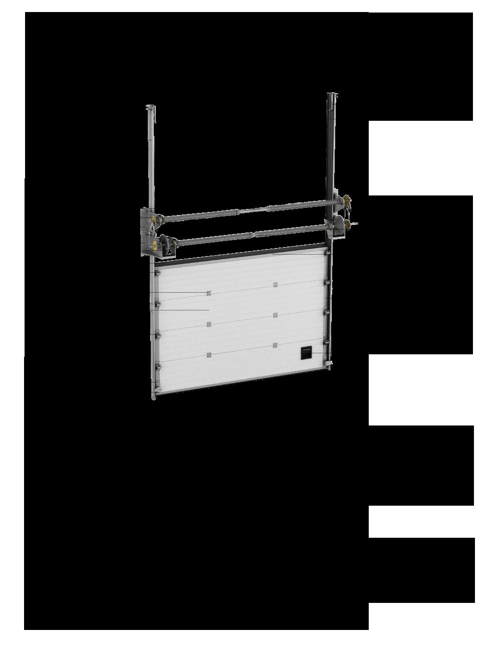 конструкция промышленных секционных ворот