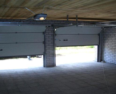 установка секционных ворот в гараж