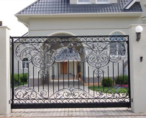 откатные ворота кованые